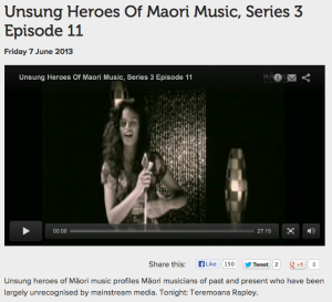 Unsung Heroes Of Maori Music, Series 3 Episode 11 - Teremoana Rapley