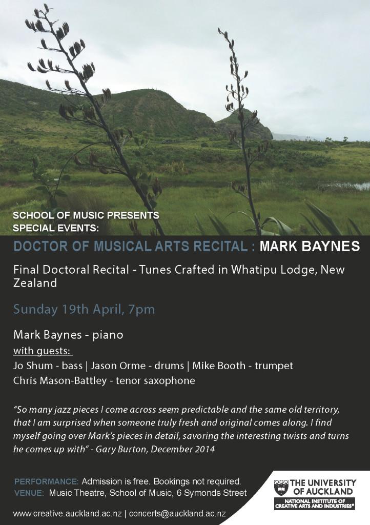 Mark Baynes DMA poster