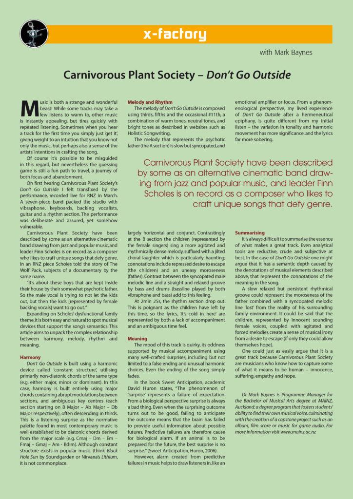 Carnivorous Plant Society – Don't Go Outside   Jazzpiano co